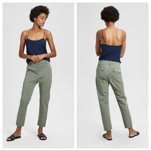 Theory Casual Twill Cargo Pant Army Green Sz 8